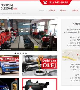 CentrumOlejowe.com – wykonanie strony i odświeżenie logotypu