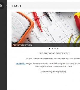 LZE.lublin.pl – wykonanie strony i logotypu