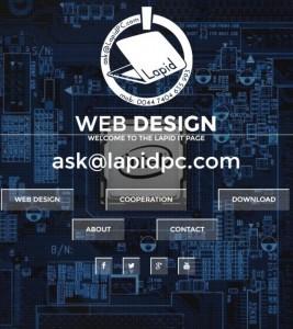 Lapid.pl – wykonanie strony i logotypu